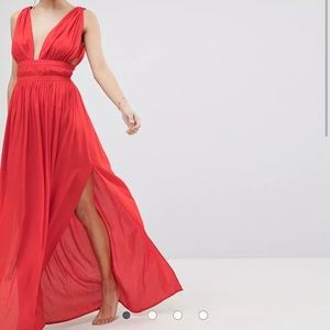 Red ASOS Maxi Dress